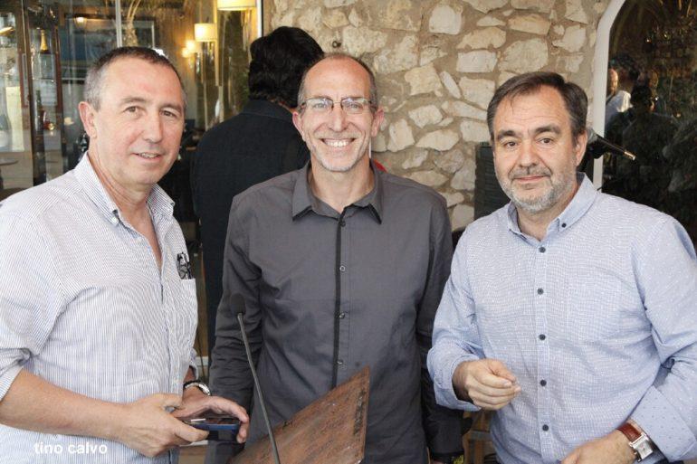 Joan Baldovi con Vicent Chorro y Vicent Colomer