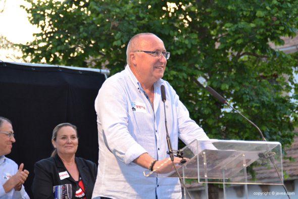Juan Ortolá durante el mitin