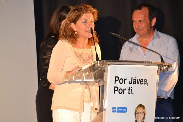 Rosa Ortuño componente de la lista popular