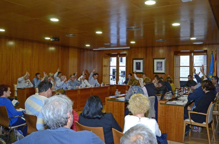 Votación en el pleno del mes de abril 2015