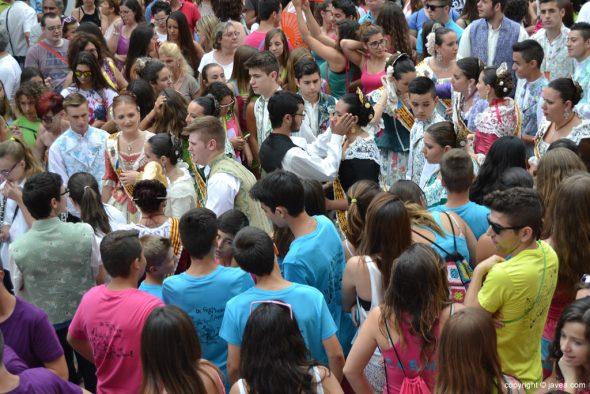 Pregon Fogueres Xàbia 2015 - llegada de la Quintà a la plaza