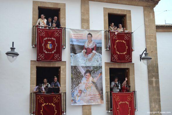 Pregon Fogueres Xàbia 2015 - balcones del Ayuntamiento