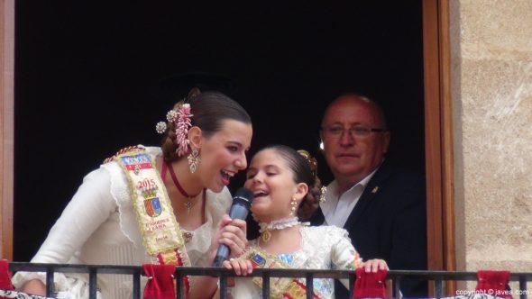 Pregon Fogueres Xàbia 2015 - Lucía Catalá y Ainhoa Buigues