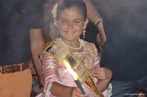 Ainhoa Buigues encendiendo la mecha