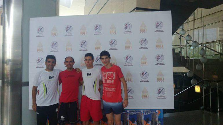 Cardona con los representantes del Llebeig Xàbia, Toni Soler y Nizar Lakhili