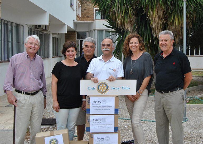 Donación de los clubes rotarios de Dénia y Jávea