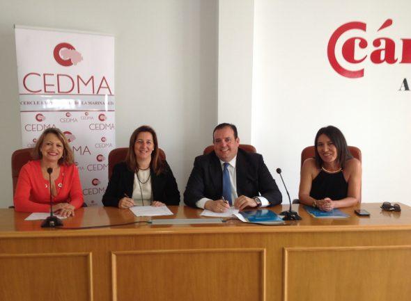 Firma del convenio entre CEDMA y Cajamar