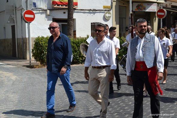 José Chulvi junto a Ortolá y Jaime Escudero