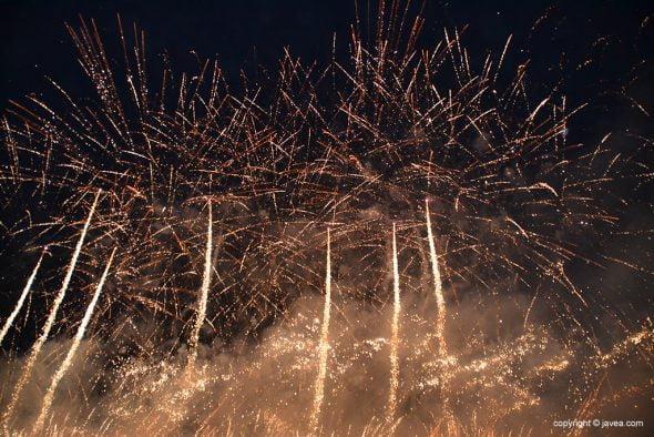 Luces del castillo de fuegos artificiales