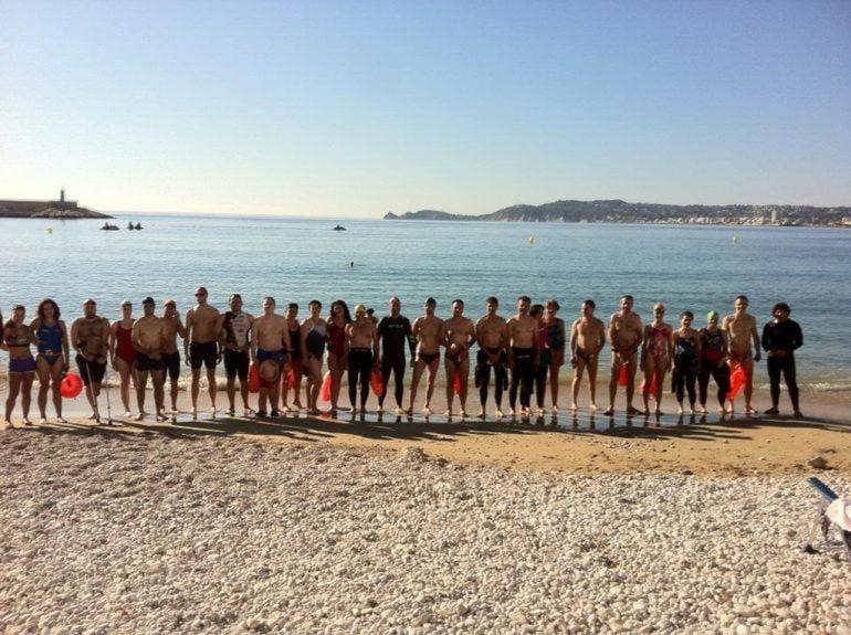 Participantes de la quedada de natación del Festival La Mar Salá
