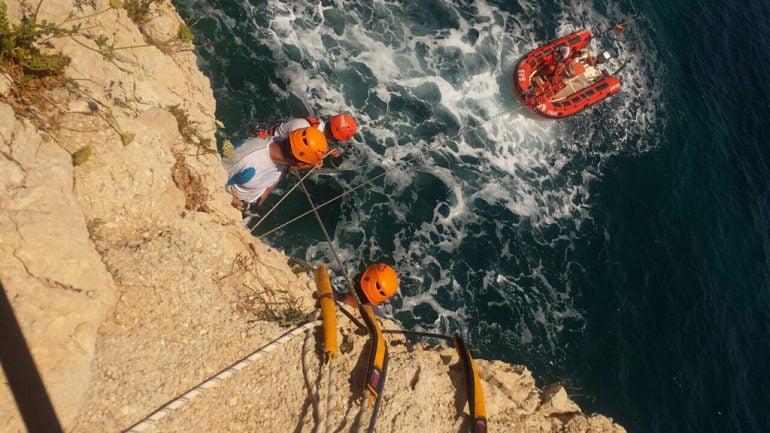 Simulacro rescate por mar