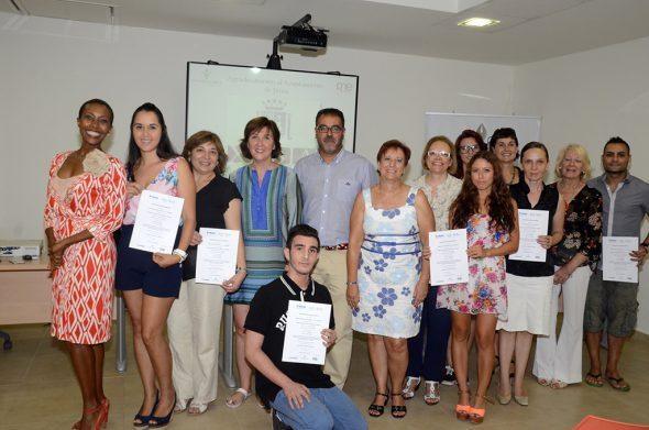 Acto de clausura del curso de Turismo y Hostelería