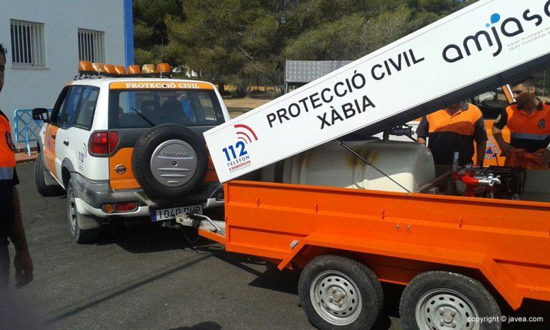 Autobomba con remolque donada por AMJASA