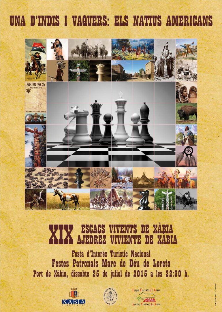 Cartel ajedrez Viviente 2015