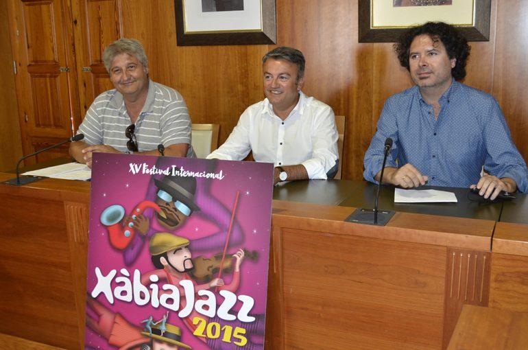Chulvi, Moragues y Berenguer en la presentación del Xàbia Jazz.