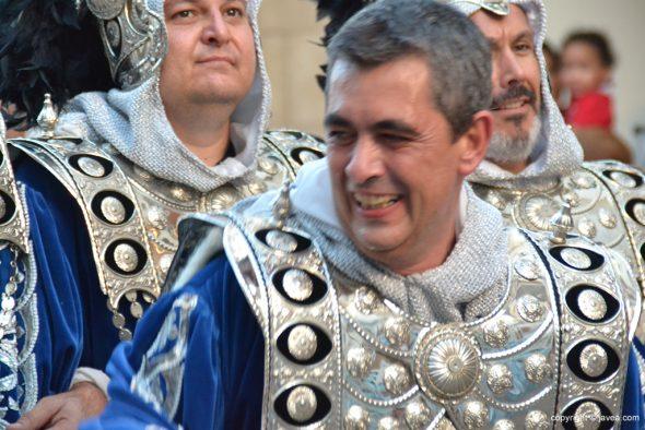 Filà Trabuquers cabo sonriente escuadra hombres