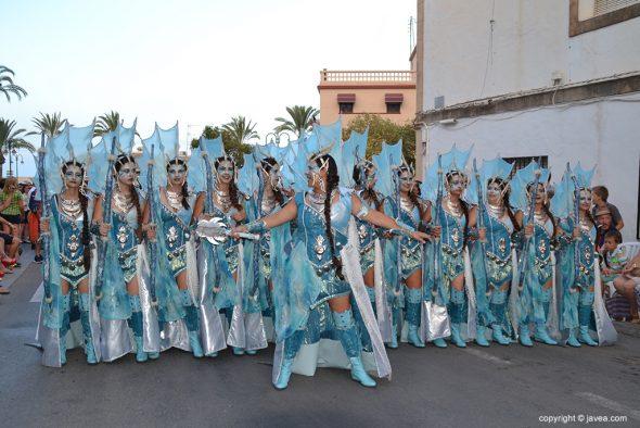 Filà Trabuquers escuadra mujeres completa