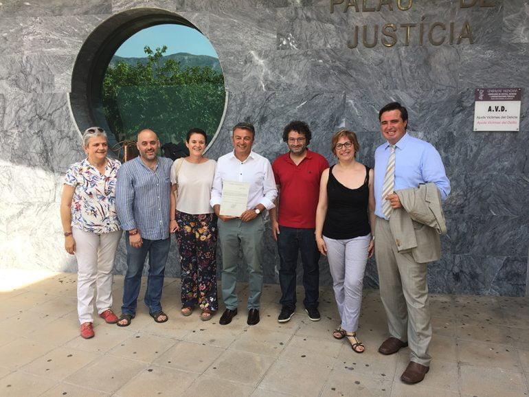 José Chulvi en los juzgados de Dénia