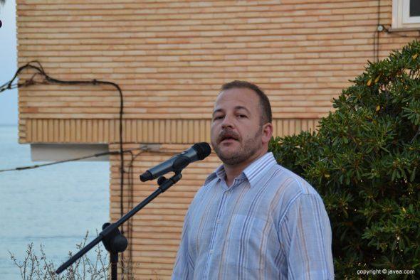 Juan Vicente Álvarez durante su discurso