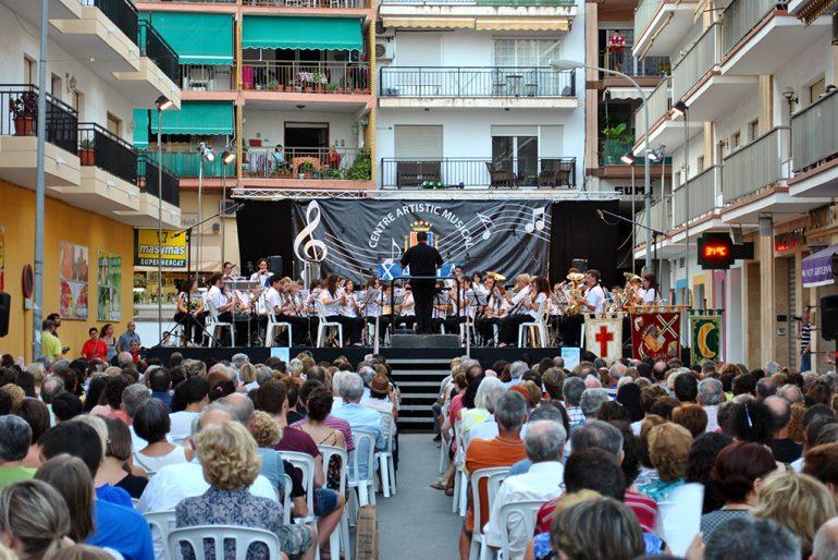 La Banda del Centre Artístic durante el concierto