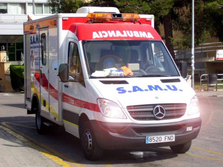 Una de las ambulancias del SAMU