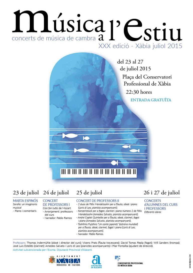 cartel Música a l`estiu Xàbia 2015