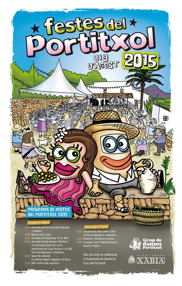cartel de las fiestas del Portitxol