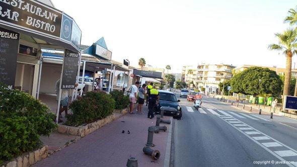 Accidente Avenida Arenal