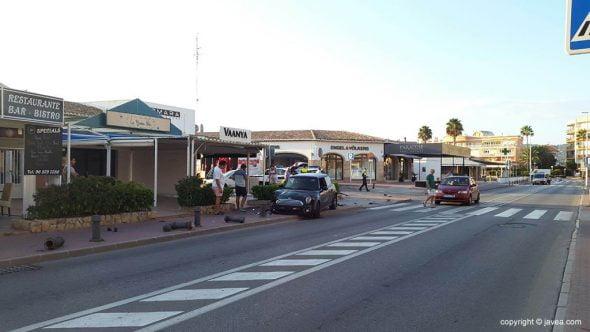 Accidente Avenida Arenal Jávea