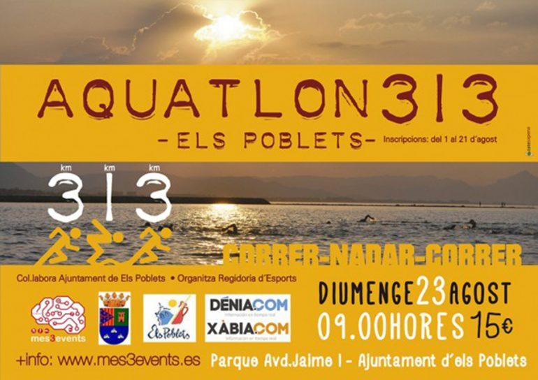 Cartel de Acuatlón de Els Poblets