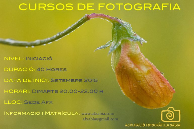 Cartel del Curso de Fotografía de la AFX.