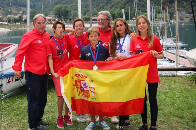 El equipo español al completo