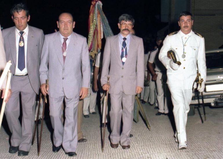Enrique Bas en las fiestas de Duanes de 1980