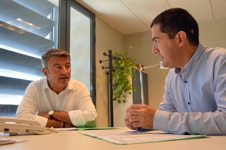 José Chulvi en la comisión de trabajo de la Diputación
