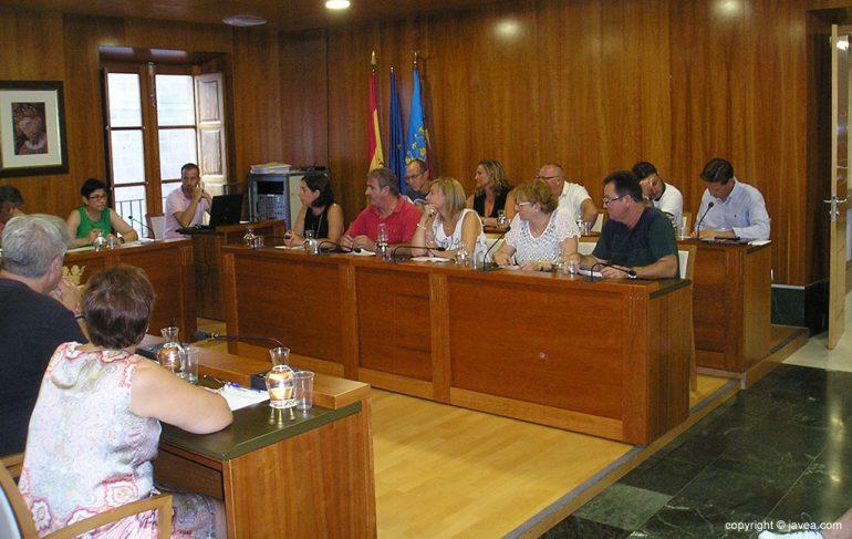 Sesión plenaria del mes de agosto  en Jávea