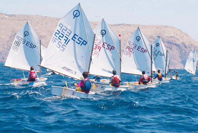 Regata Optimits en Xàbia