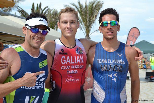 Arturo Galian, Iván Muñoz y Germán Alcalá