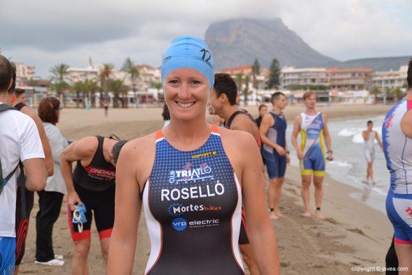 Cristina Roselló antes de nadar