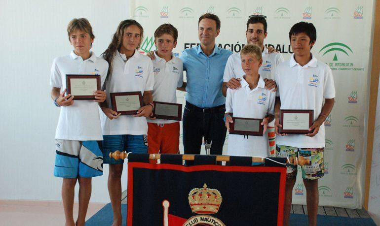 Equipo de optimist del Club Náutico Jávea campeón de España