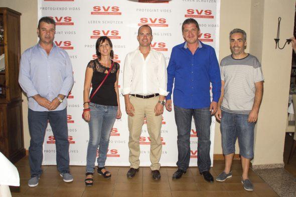 Eusebi Miñana con las Autoridades Locales de El Poble Nou de Benitatxell