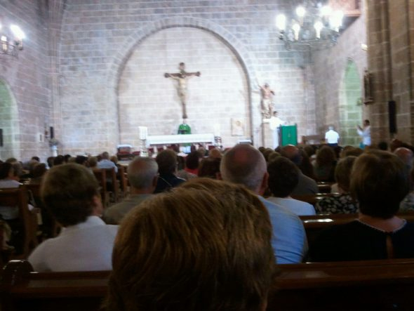 Iglesia de San Bartolomé en la despedida de Don julián