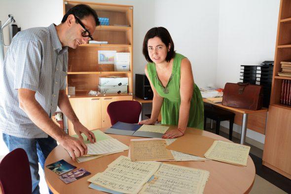 Jefe de estudios del Conservatorio de Xàbia y Montse Villodre