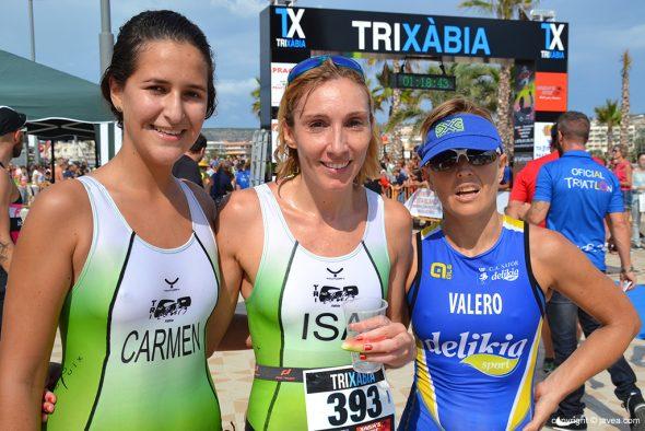 Mª Isabel Ferrer, Carmen Bolufer y Silvia Valero