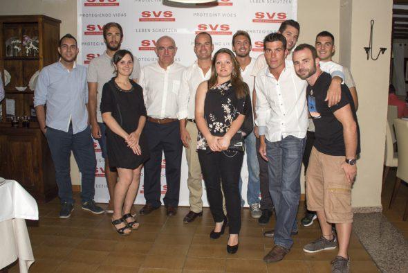Personal de SVS junto a Eusebi Miñana y  Antonio Padial, Director de Salvamento Marítimo Valencia