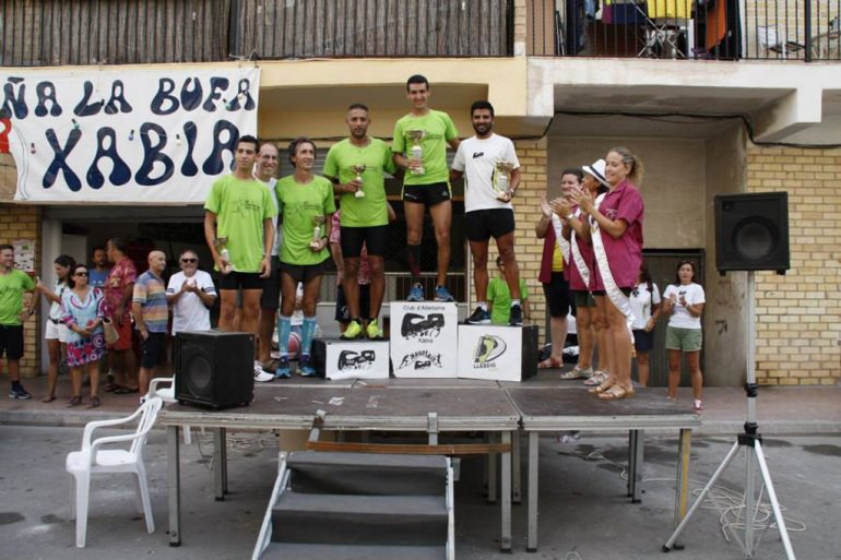 Podium Masculino de la carrera de la Peña La Bufa