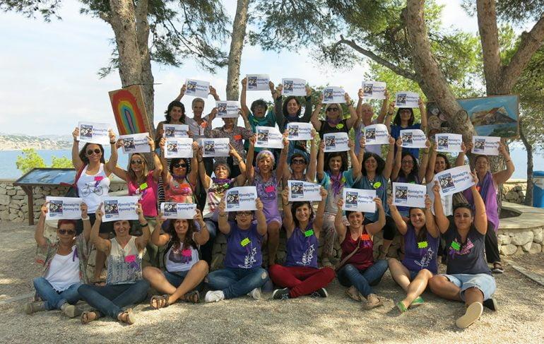 Representantes de las asociaciones feministas de la Marina Alta