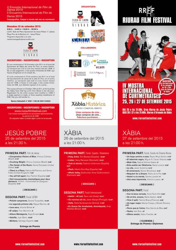 Tríptico oficial RiuRau Film Festival 2015