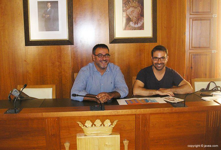 Cesc Camprubí y Jaime Más en la presentación de La Mar de Tapes