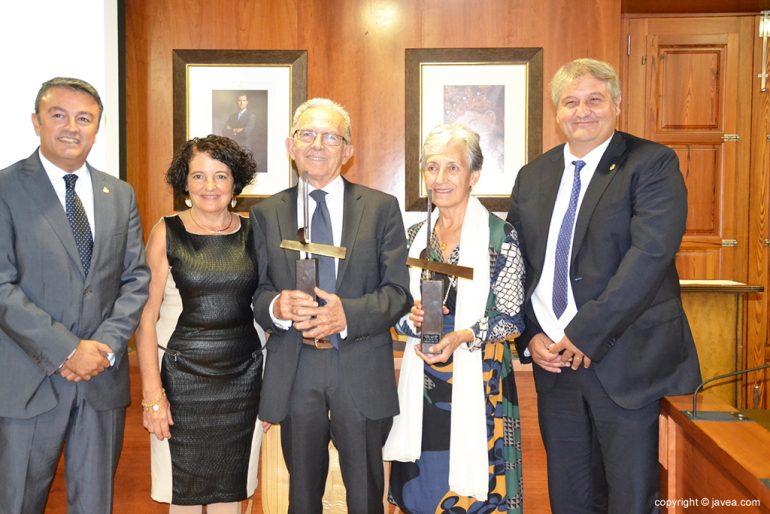 José Chulvi y Quico Moragues con los premiados