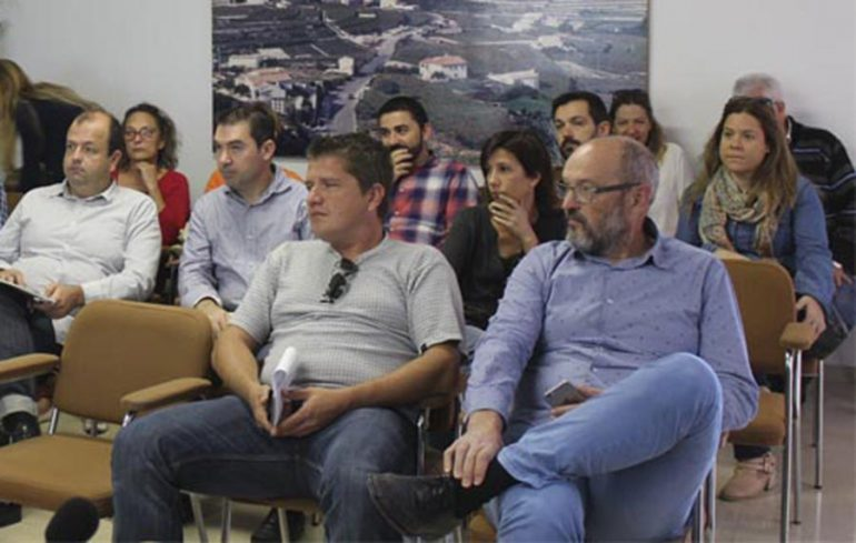 Josep Femenía durante la exposición del PGOU